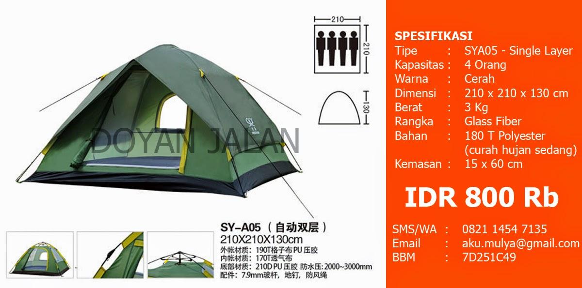 Tenda Dome Kapasitas 4 Orang