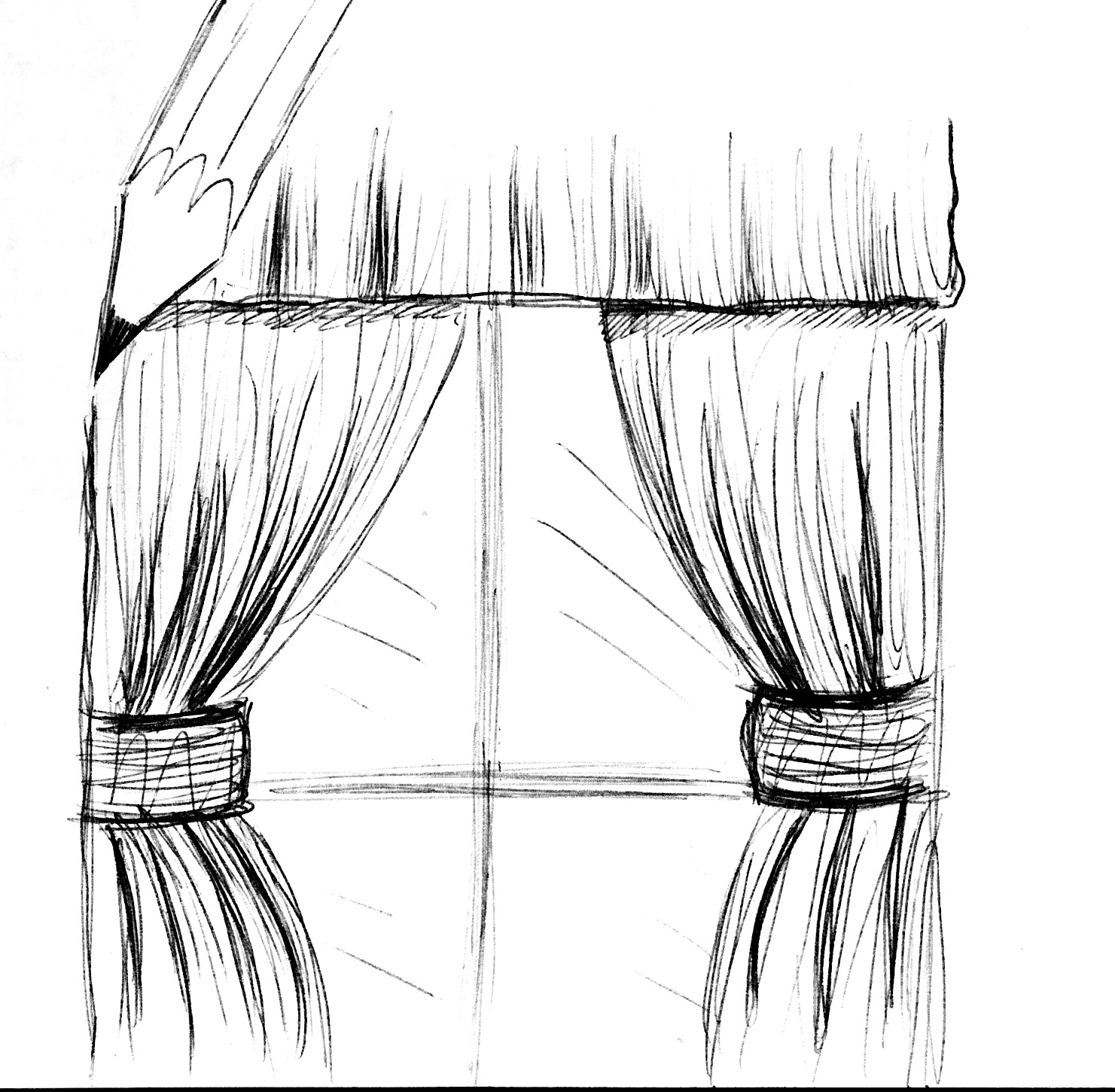 curtain drawing pictures to pin on pinterest pinsdaddy