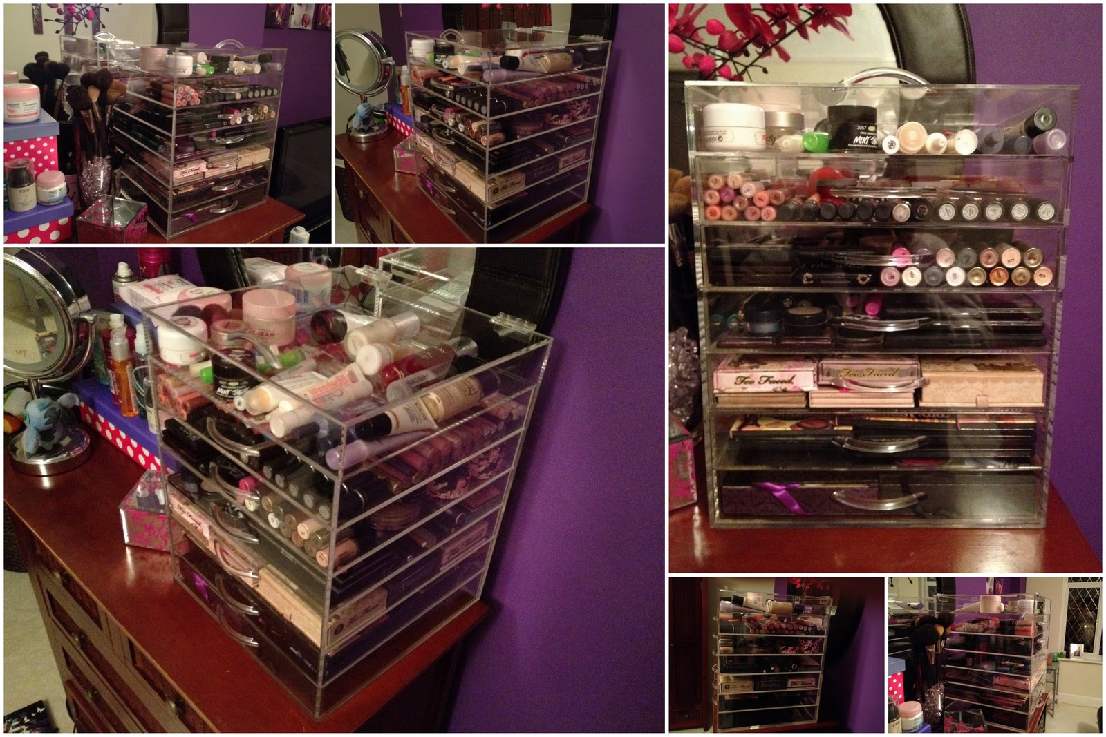Flutter And Sparkle Be Excited For The Affordable Alternative To - Acrylic cube makeup organizer with drawers