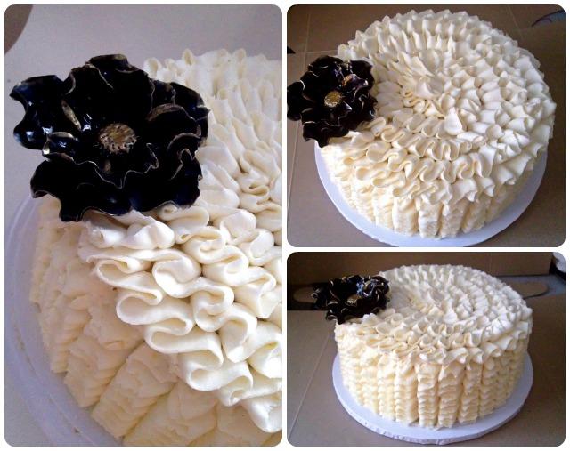 Buttercream ruffles birthday cake by Cupcake et Macaron Montreal