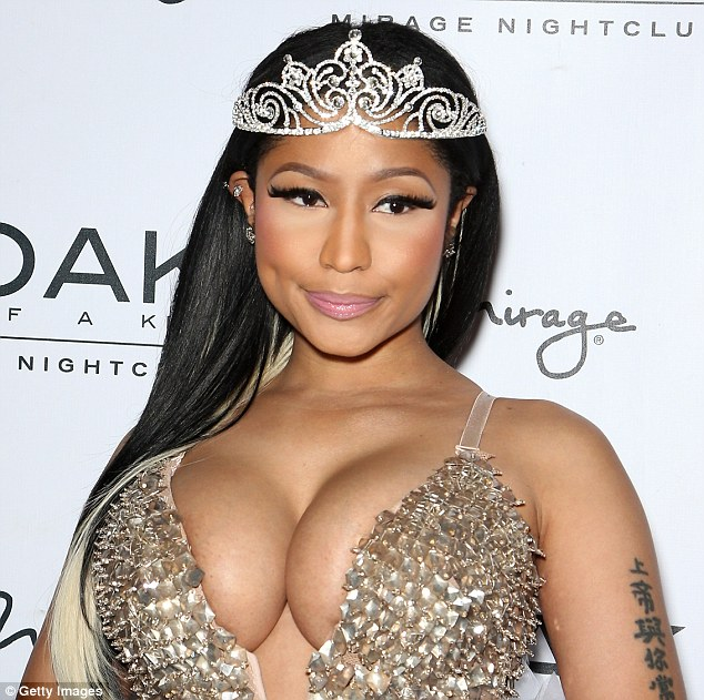 Nicki Minaj spills her cleavage in fancy fairy dress at Las Vegas Halloween Party