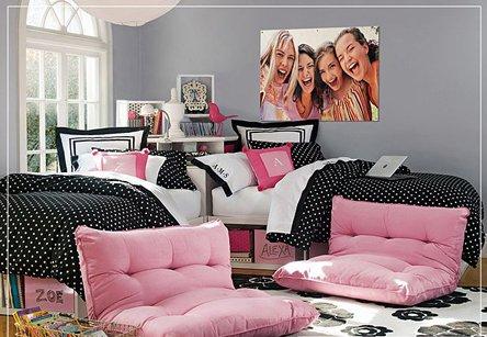 bricolage e decora o ideias de decora o para quarto de duas irm s adolescentes. Black Bedroom Furniture Sets. Home Design Ideas