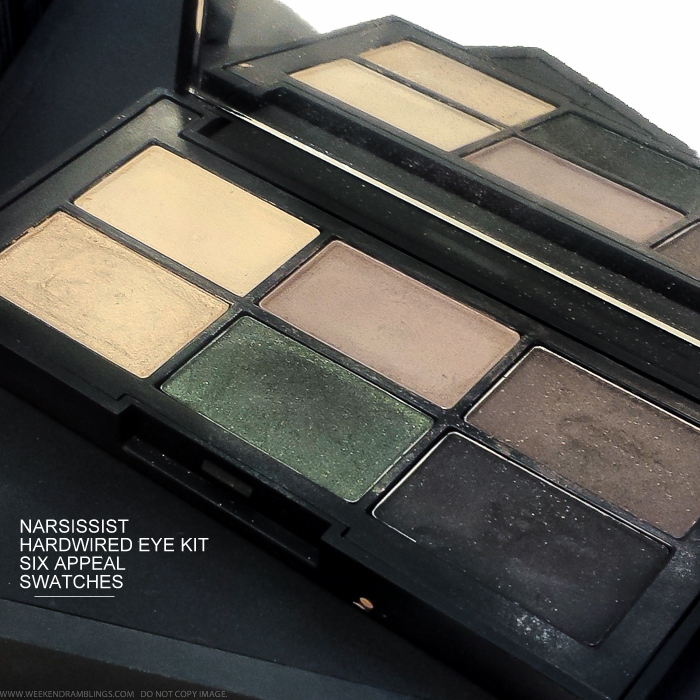NARSissist Hardwired Eye Kit - Six Appeal Eyeshadow Palette - Fall 2015 Makeup - Swatches