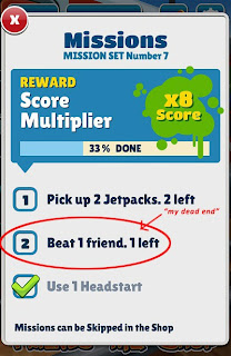 Dead End in Beating Up Friend in Subway Surfer