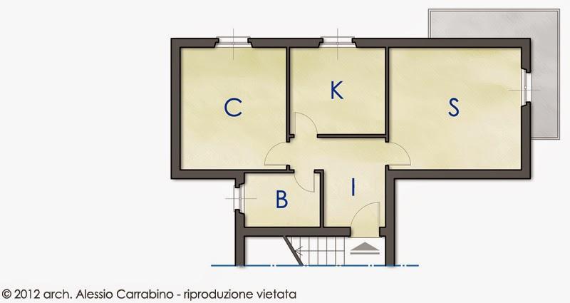 Contenitore Vano Giorno Befree Open : Alessio carrabino architetto soggiorno open space per