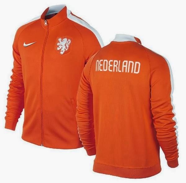 Jaket GO Belanda Nike N98 Orange Official World Cup 2014 Murah