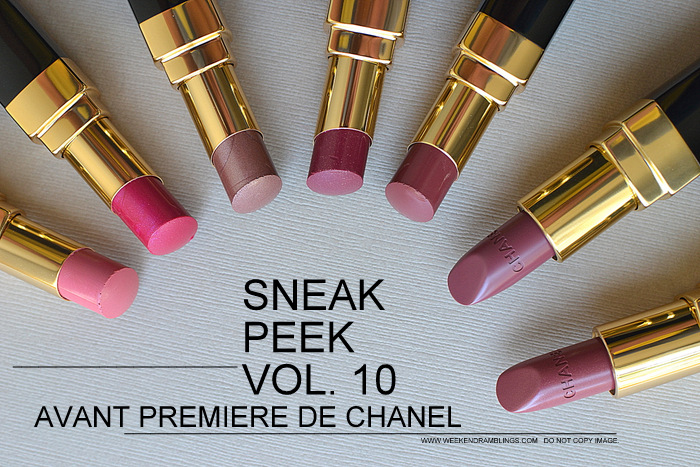 Avant-Premiere de Chanel Makeup Collection Spring Summer 2013 Collection Photos Swatches Rouge Coco Shine Lipsticks Beauty Blog
