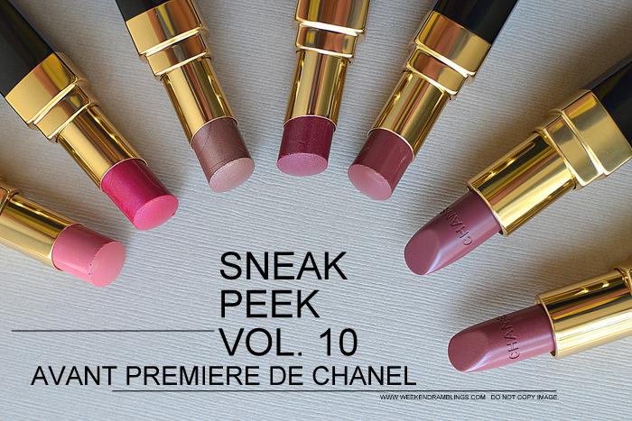 Avant-Premiere de Chanel Makeup Collection Spring Summer 2013 Collection Photos Swatches Rouge Coco Shine Lipsticks Beauty Blog