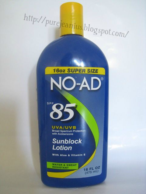 NO AD SPF 45 Sunscreen Lotion, 16 fl oz - Walmart.com