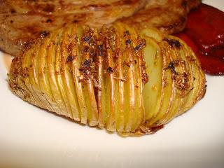 patatas hasselback chimichurri hierbas horno guarnición