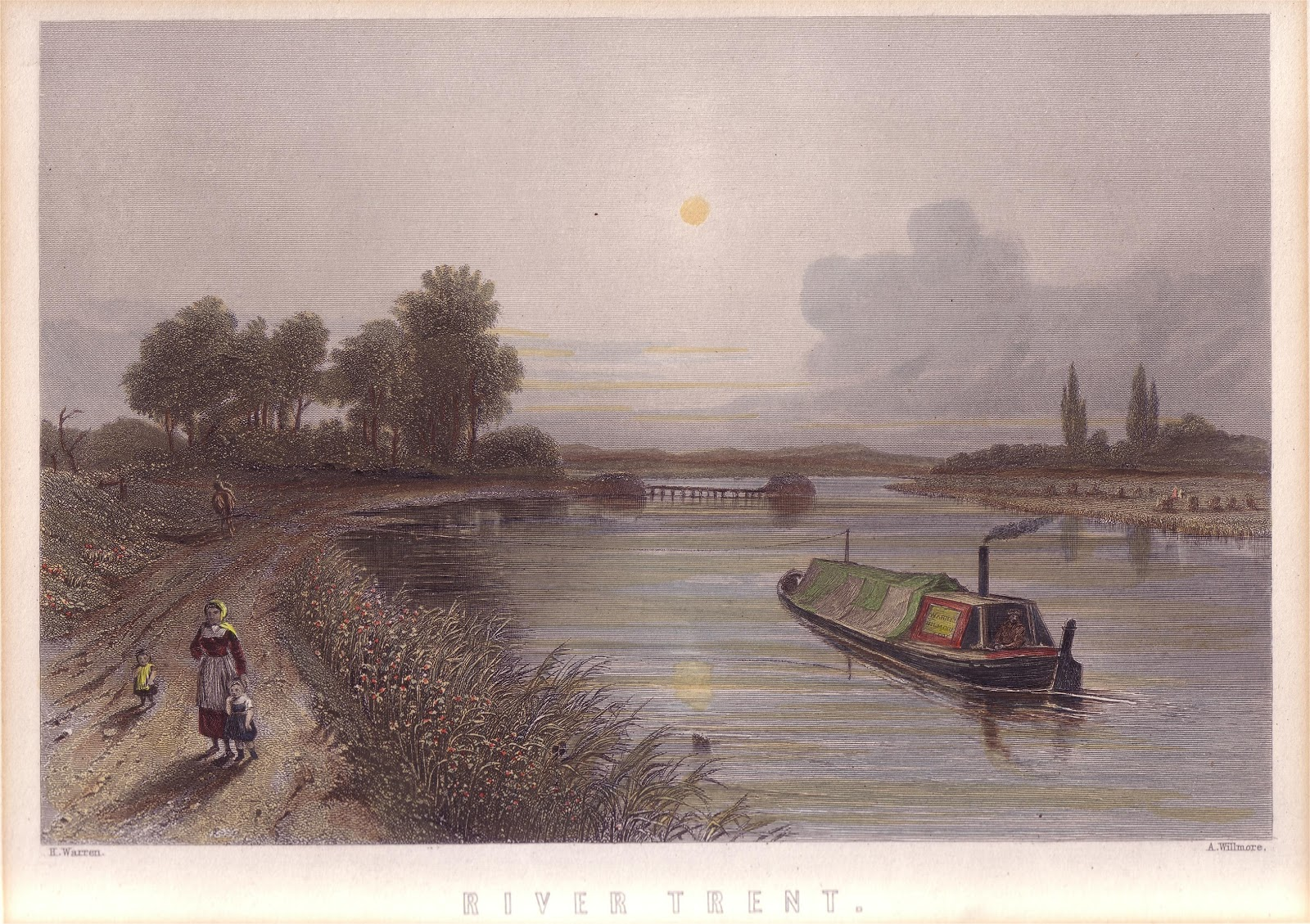 Barge on Trent near Wychnor