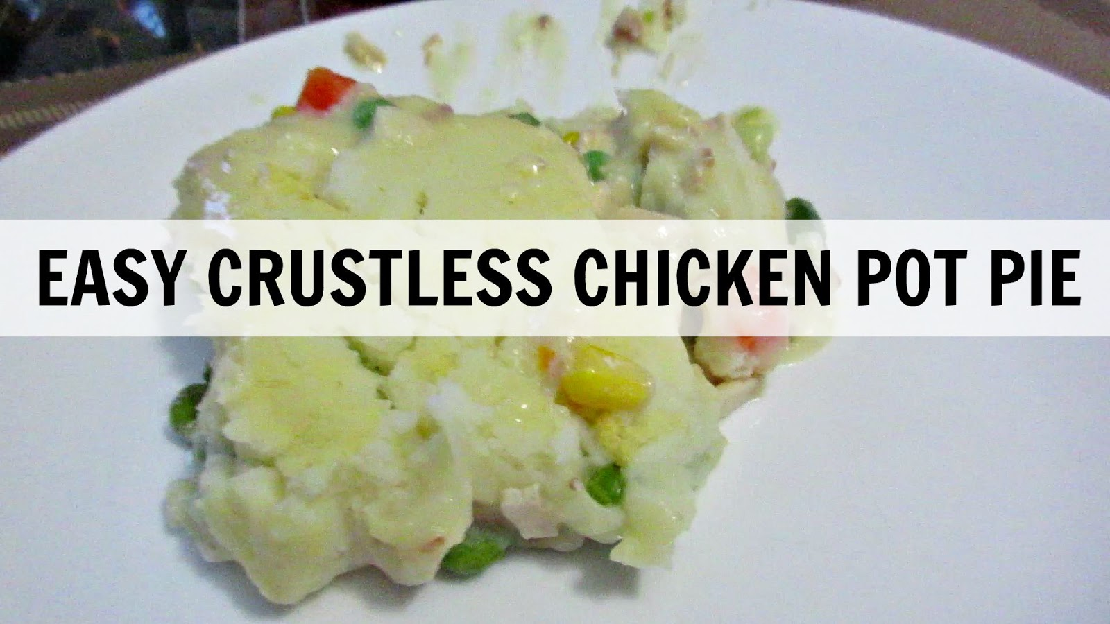 Easy Crustless Chicken Pot Pie (Video Included) # ...