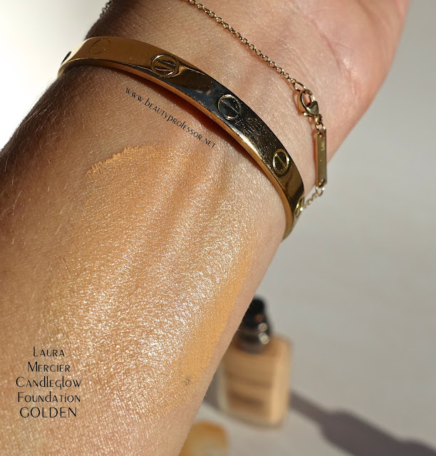laura mericer candleglow foundation swatches golden
