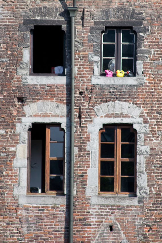 windows in one of the canal houses