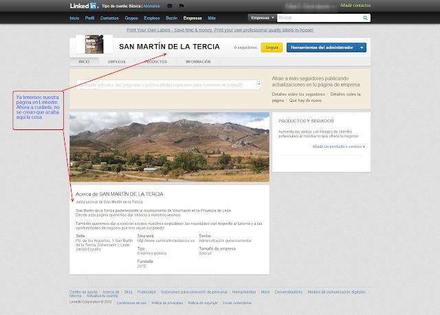 COMERCIO LEÓN - Como crea una página de empresa en LinkedIn - 5º ya esta terminada.