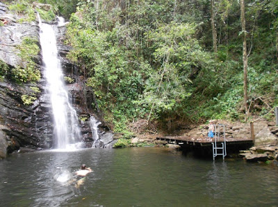 waterfall swimming at its best in belize with mckinley and natalie pritchard in placencia