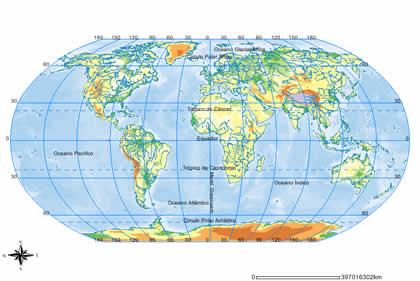 Mapa planisferio politico