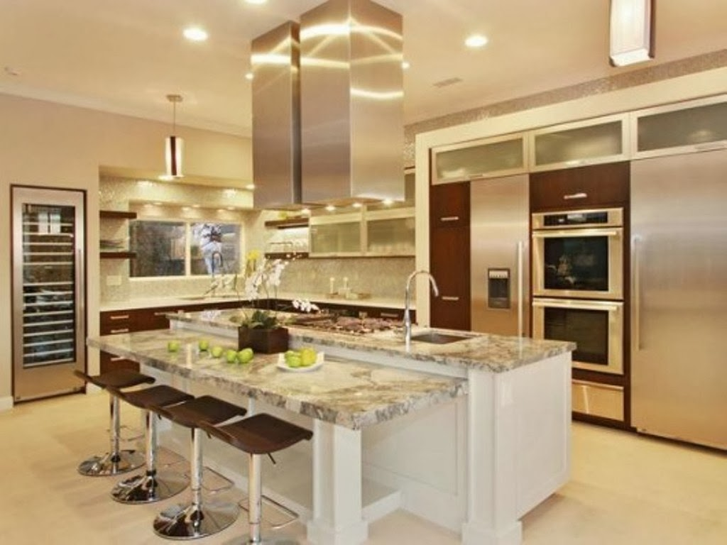 L shaped kitchen with island ideas for Kitchen with island