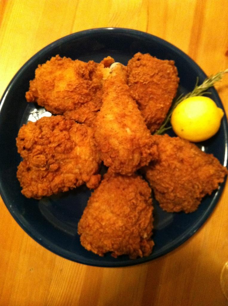 fried chicken buttermilk fried chicken with smoky gravy rosemary lemon ...