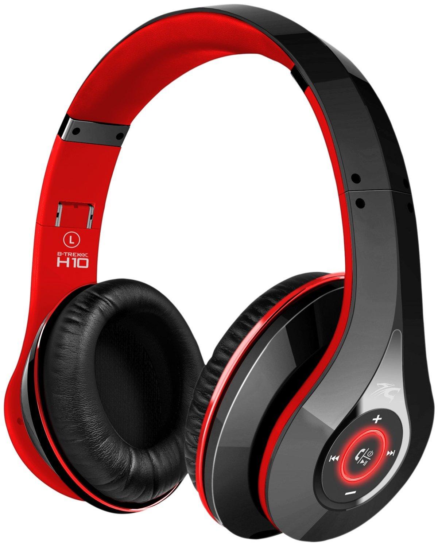 Bluetooth headphones with charging case - headband headphones with mic