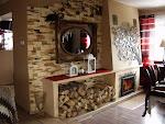 salon z czerwienią