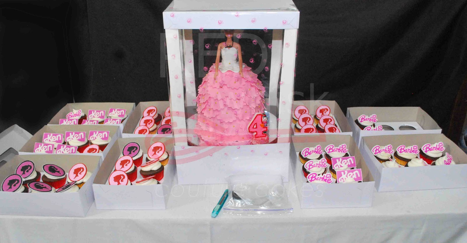 RED whisk Couture Cakes: Barbie Cake for Bea