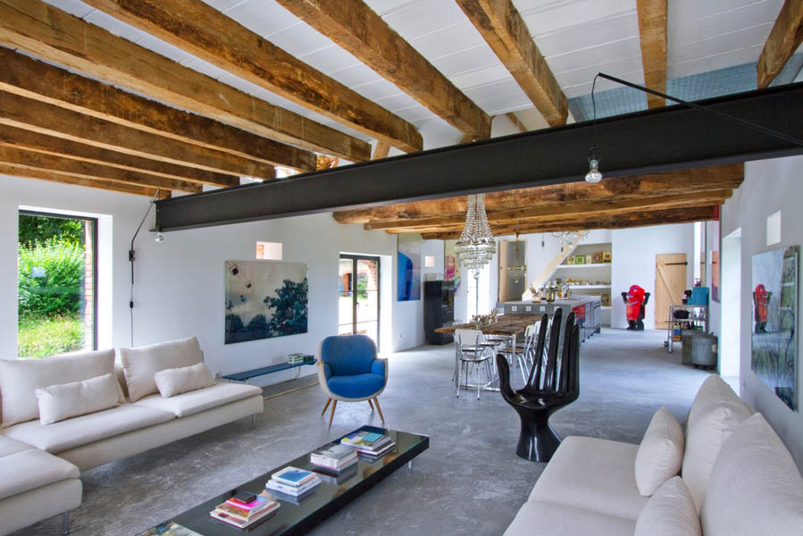 loveisspeed inspiring barn conversion in burgundy