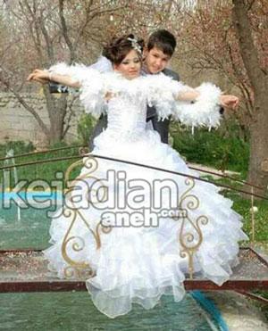 pernikahan gadis 10 tahun dengan bocah 14 tahun di Iran