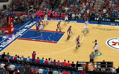 NBA 2K13 Philadelphia 76ers Court Patch