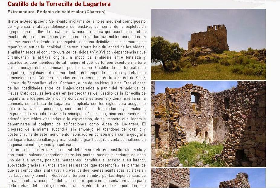 Lista Roja del Patrimonio: Castillo de la Torrecilla de Lagartera (Cáceres)