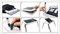 Meja Laptop Portable E-Table + Cooling Pad