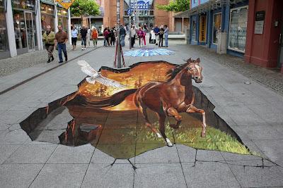 Pinturas 3D en las calles - Tan reales que pueden tocarse