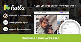 Free Download Katla v2.0.1 User Generated Content WP Theme