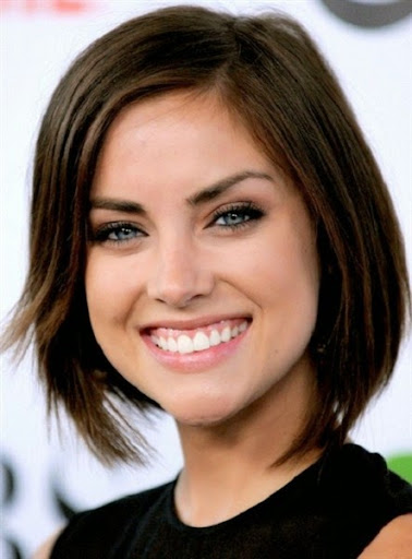 short haircuts for round faces 2015