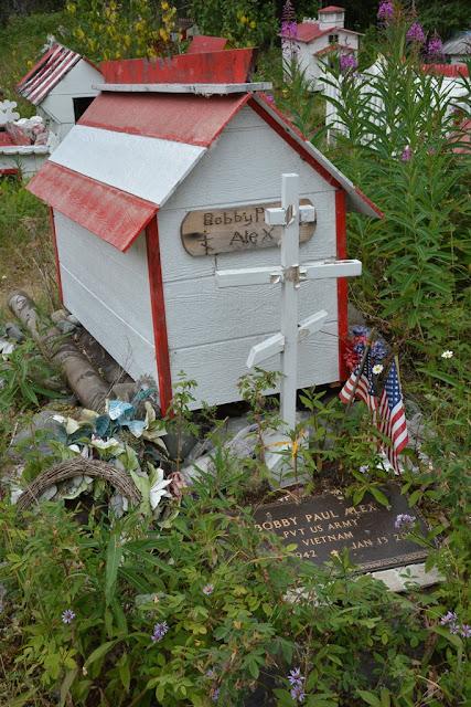 Eklutna cemetery spirit houses