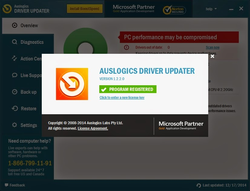 Auslogics Driver Updater 1.2.2.0 With Crack  free