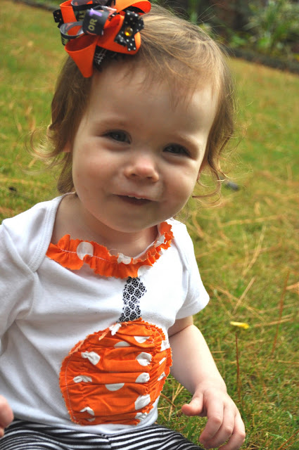 halloween for kids: ruffled pumpkin applique {tutorial}