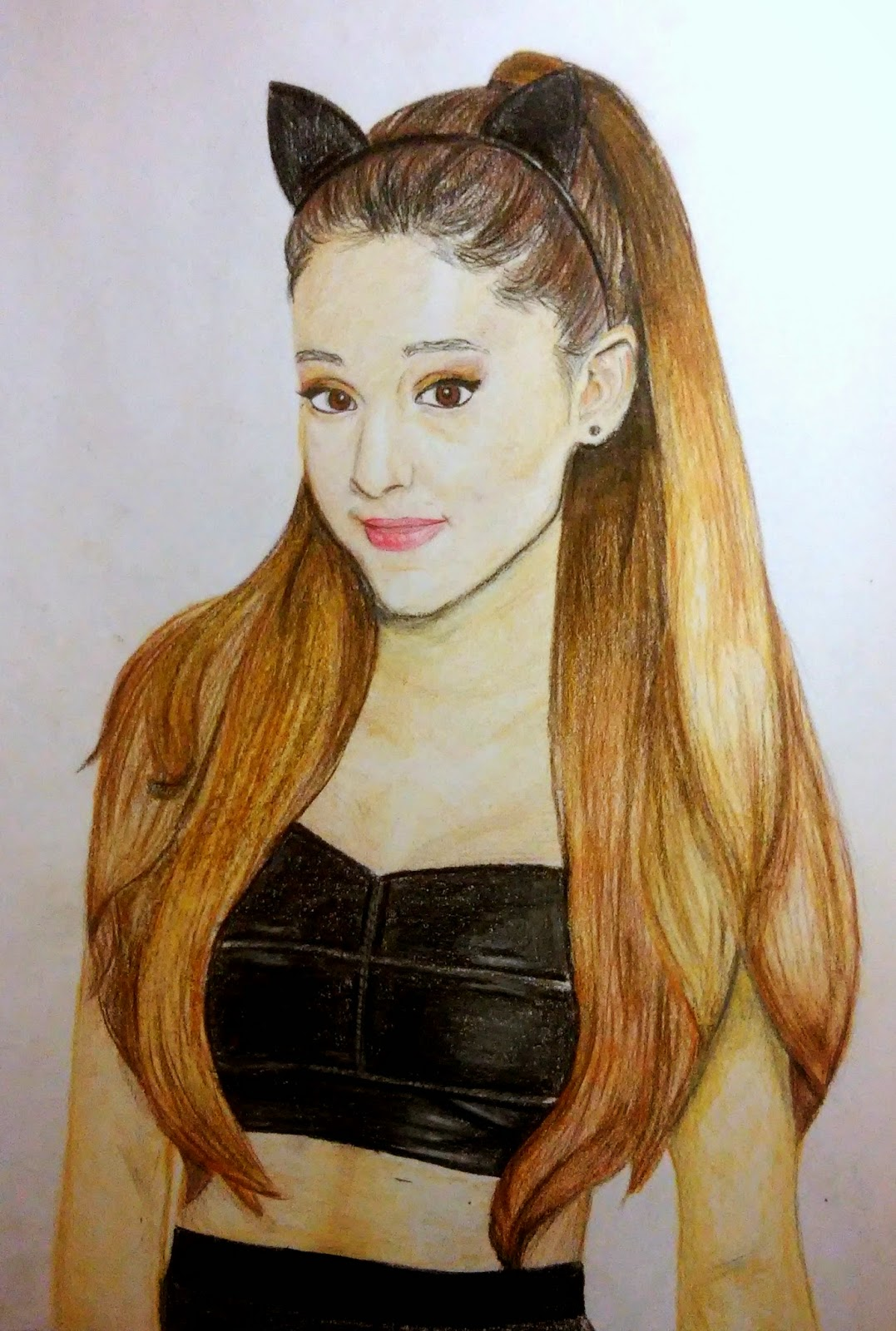 Klaudia Lechowska Rysunek Ariana Grande Portret W Kolorze