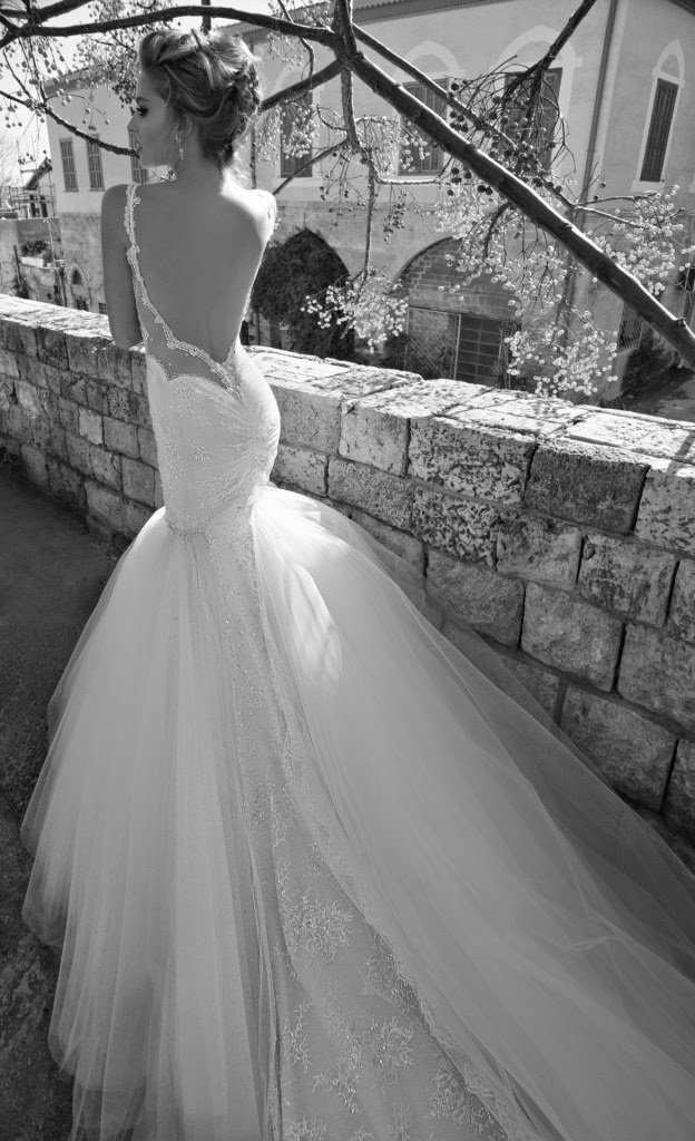 mermaid wedding dress by Galia Lahav, La Dolce Vita 2015 collection