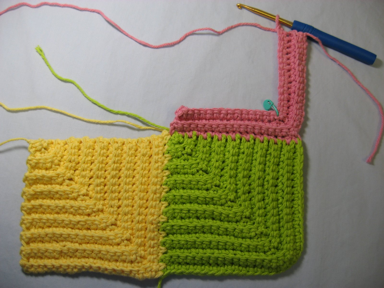 Hooked on Needles: Mitered Square Crocheted Baby Blanket ...