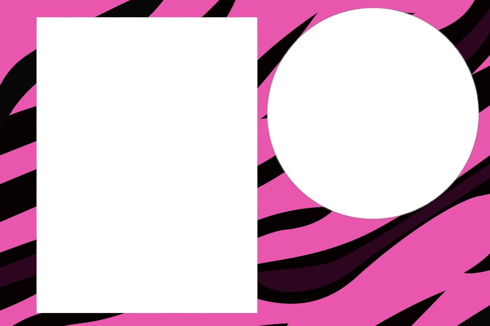 Aproveitem estes convites prontos de Zebra e Oncinha Pink e Preto, na