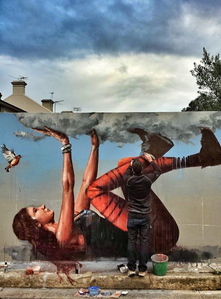 Fintan magee new street art mural sydney australia for Australian mural