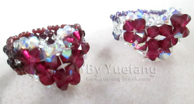 Beaded-heart-rings-with-simple-design