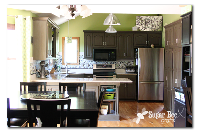diy kitchen remodel -the big reveal! - sugar bee crafts