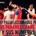 Los 17  elegidos en preselección para los Juegos Panamericanos 2015 y sus números.