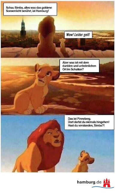 könig der löwen hamburg. mufasa erklärt simba was es mit pinneberg auf sich hat.