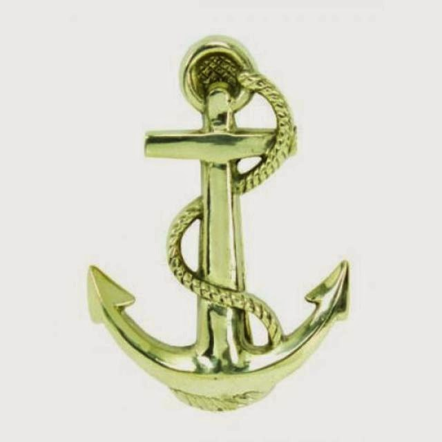 Solid Brass Anchor Door Knocker