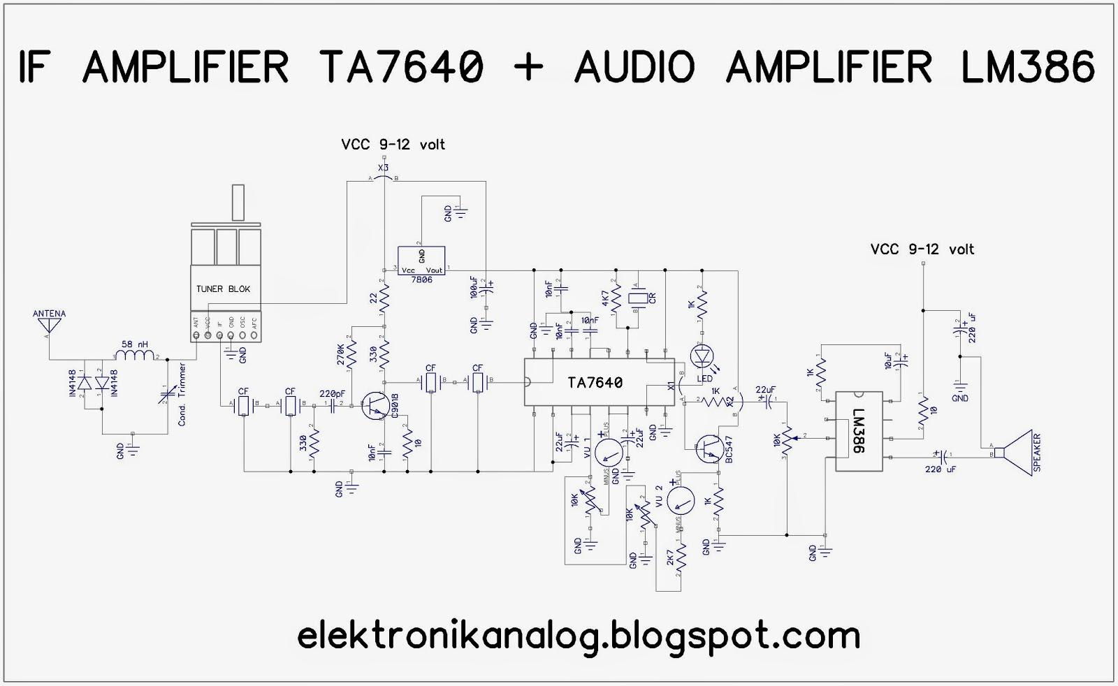 Elektronika analog vhf fm receiver menggunakan ic ta7640 berdasarkan datasheet ic ta7640 tegangan kerja maksimal 8 volt maka dengan ic regulator 7805 atau 7806 sudah cukup untuk mensuplai tegangannya ccuart Image collections