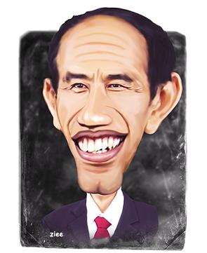 Karikatur Jokowi Lucu