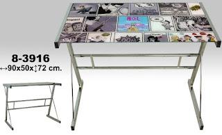 Mesa ordenador decorada